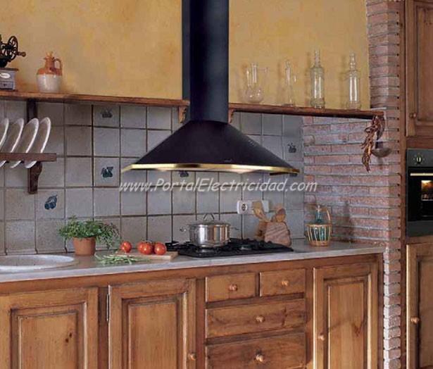 Campanas r sticas de extracci n necesarias en tu cocina - Cocinas rusticas de obra fotos ...