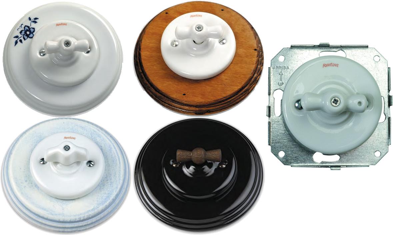Fontini garby colonial interruptores y enchufes r sticos - Enchufes y interruptores ...