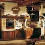cocina rústica ladrillo y madera