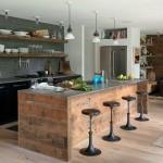 Cocinas rústicas lineas rectas
