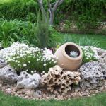 elementos decorativos jardines rusticos