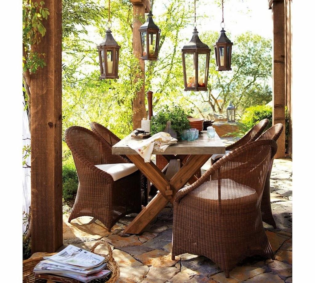 Lo que no puede faltar en los jardines r sticos - Fotos de porches rusticos ...