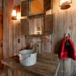 faroles para baños rusticos