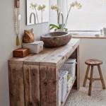 ideas para baño rustico